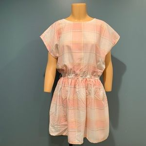 Dresses & Skirts - VINTAGE Pink and White Plaid Dress